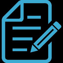 シンプルな署名契約アイコン